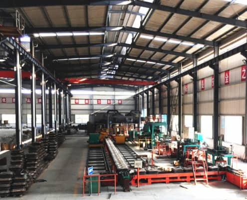 layout of automatic casting grinding ball molding line