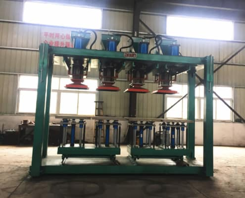 four working positions sand shooter for producing mill balls