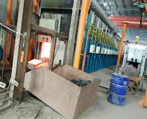 gas type hammer heat treatment