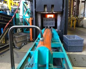 gas type tempering machine
