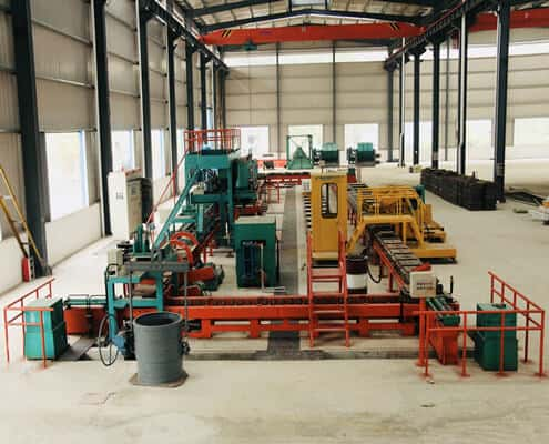 automatic high chrome grinding ball production line