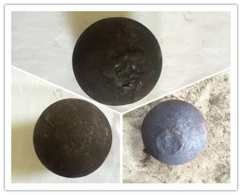chrome casting balls made by molding line