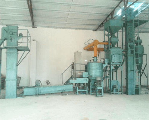 sand precoated plant