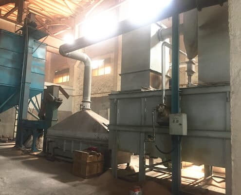 waste sand recycling plant