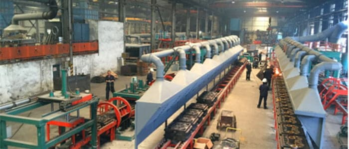 HORIZONTAL PARTING HIGH-SPEED SAND-COATED IRON MOLD CASTING PRODUCTION LINE