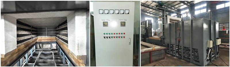 control cabinet for heat treatment machine